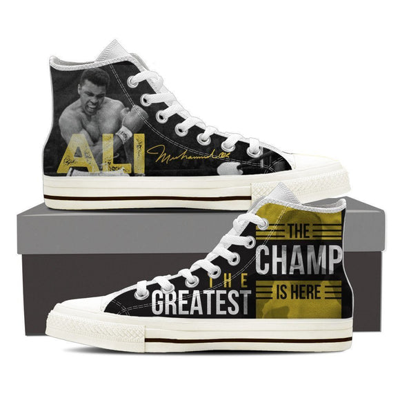 muhammad ali ladies high top sneakers