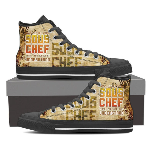 sous chefs ladies high top sneakers