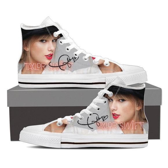 taylor swift mens high top sneakers