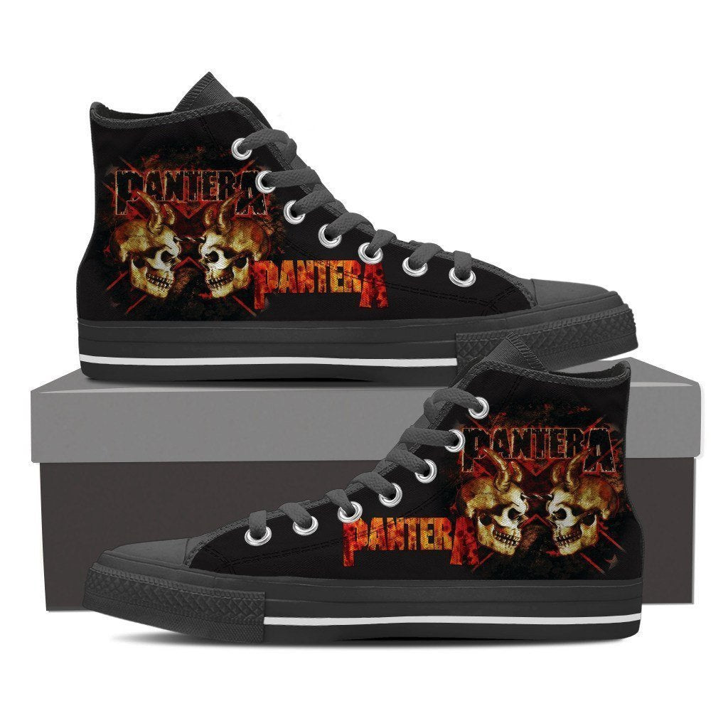 pantera band ladies high top sneakers