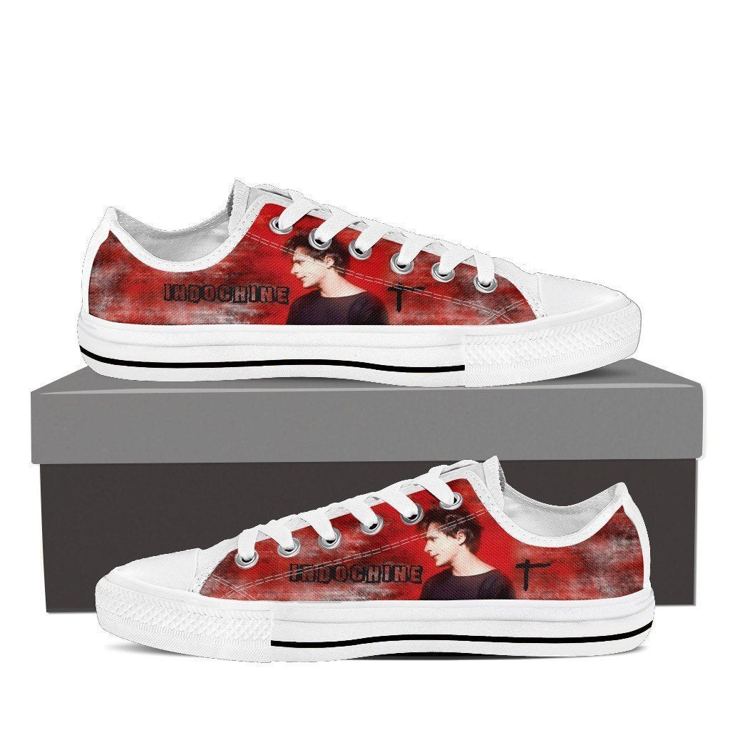 indochine band ladies low cut sneakers