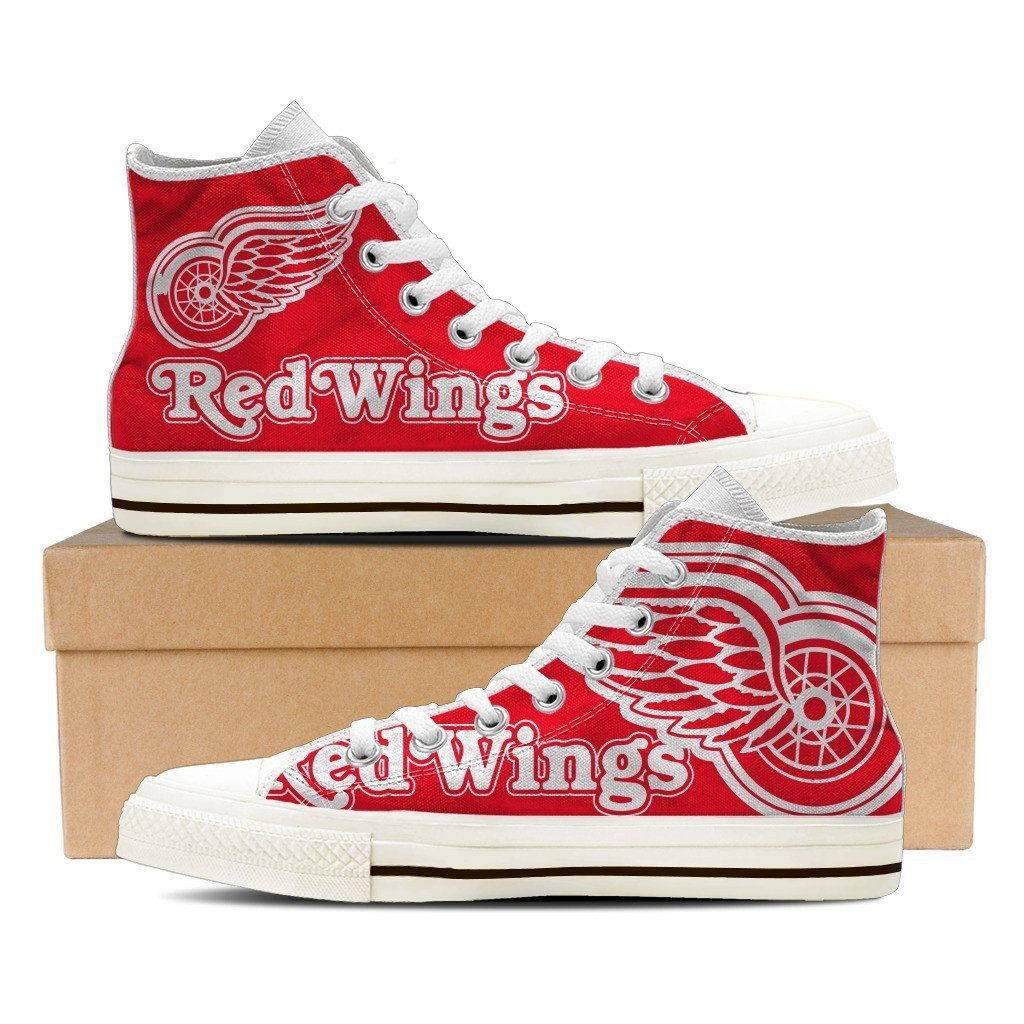 detroit red wings mens high top sneakers high top