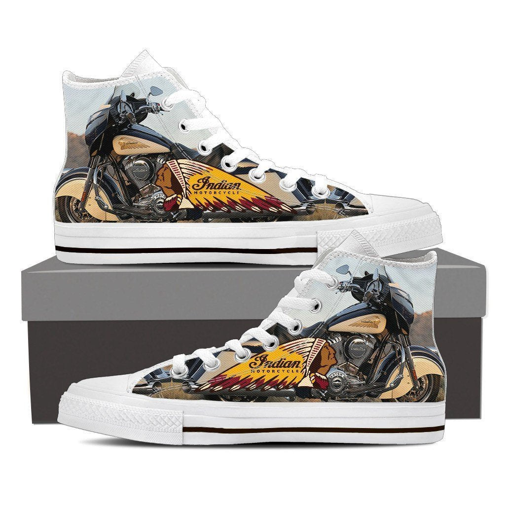 indian motorcylce new ladies high top sneakers