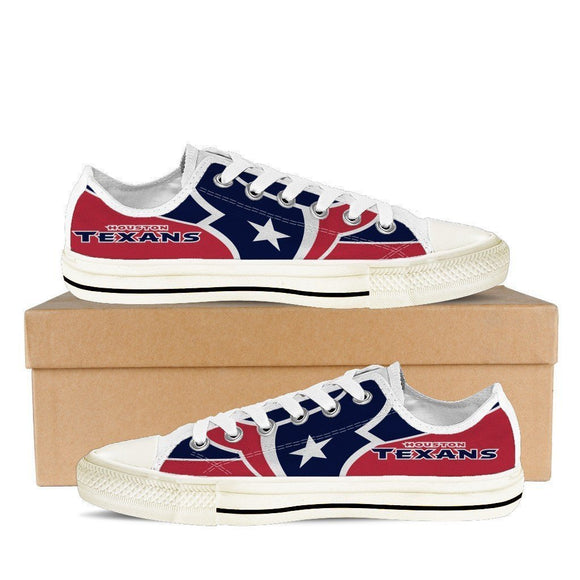 houston texans mens low cut sneakers cut