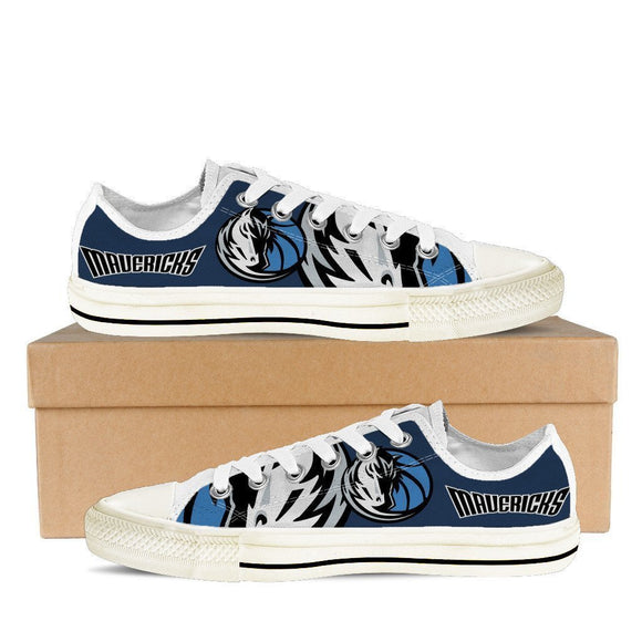 dallas mavericks mens low cut sneakers cut