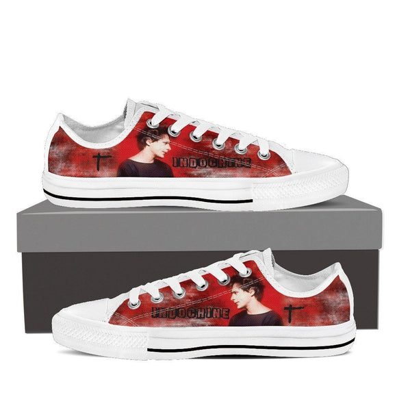 indochine band mens low cut sneakers