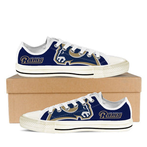 los angeles rams mens low cut sneakers cut