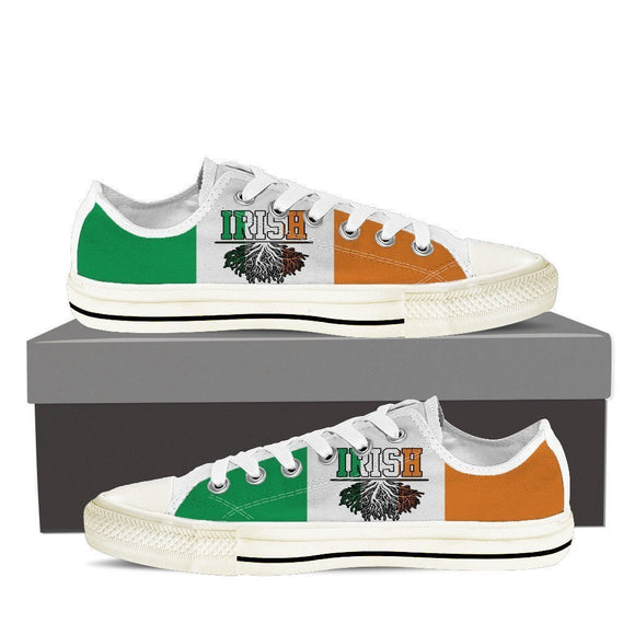 irish roots ladies low cut sneakers
