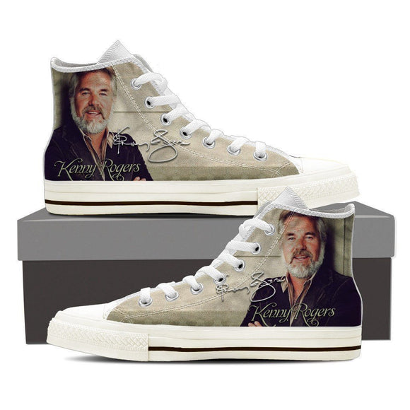 kenny rodgers mens high top sneakers
