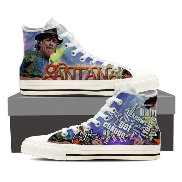 carlos santana mens high top sneakers high top