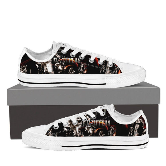 led zeppelin mens low cut sneakers