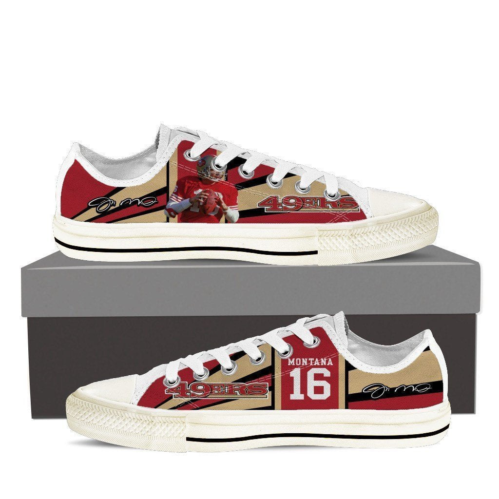 joe montana ladies low cut sneakers