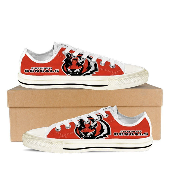cincinnati bengals ladies low cut sneakers