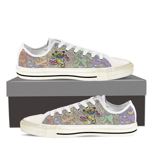 grateful dead dancing bears ladies low cut sneakers