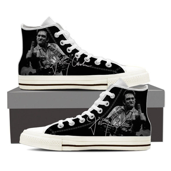 johnny cash ladies high top sneakers
