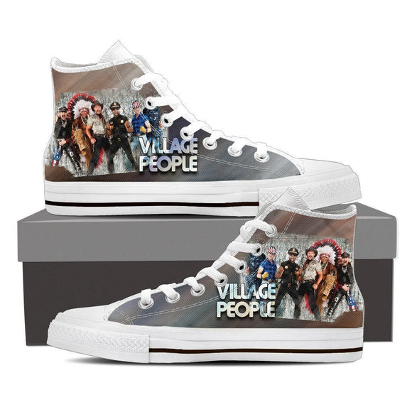 the village people ladies high top sneakers