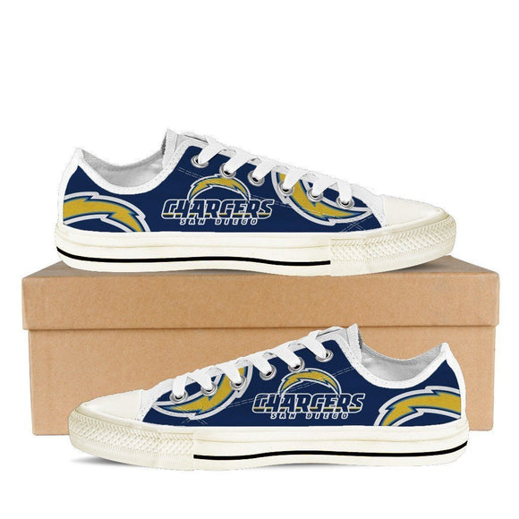 san diego chargers mens low cut sneakers cut