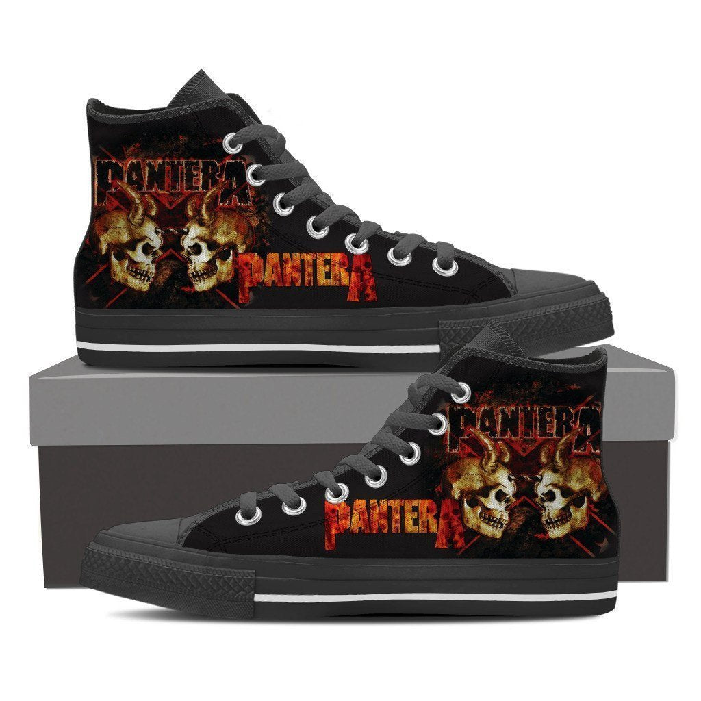 pantera band mens high top sneakers