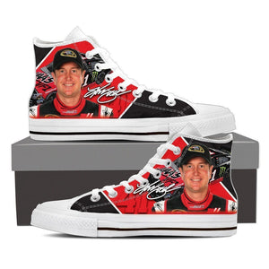 kurt busch new ladies high top sneakers