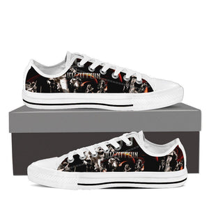 led zeppelin ladies low cut sneakers