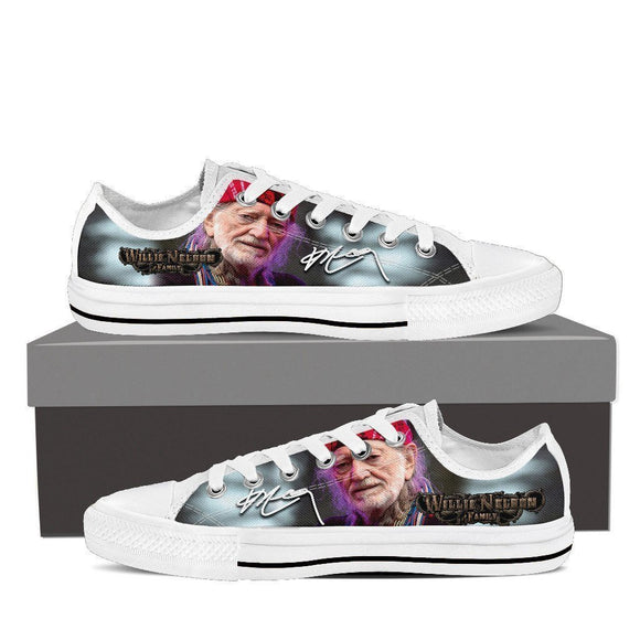 willie nelson mens low cut sneakers