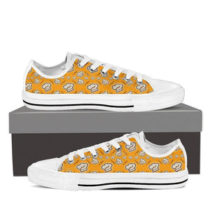 chef cap pattern mens low cut sneakers