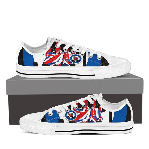 the who ladies low cut sneakers
