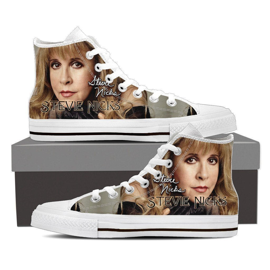 stevie nicks ladies high top sneakers