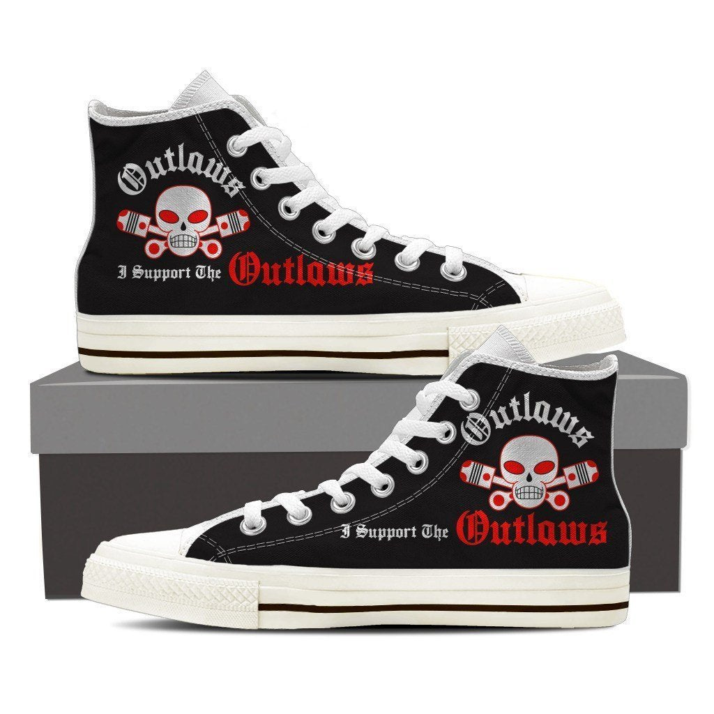 outlaws supporter ladies high top sneakers