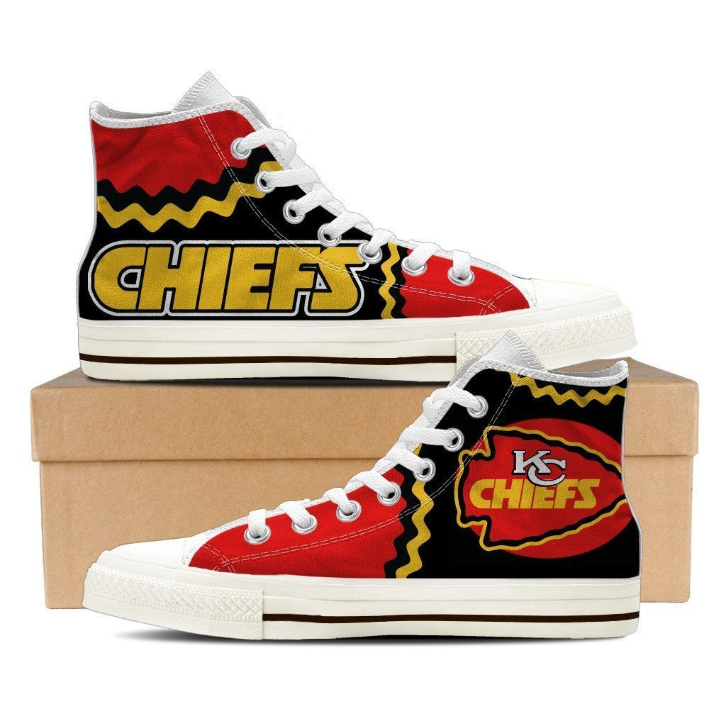 kansas chiefs mens high top sneakers high top