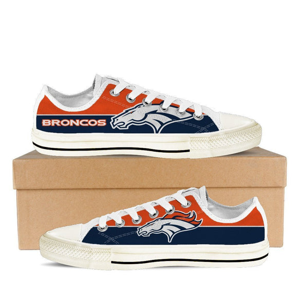 denver broncos mens low cut sneakers cut 1