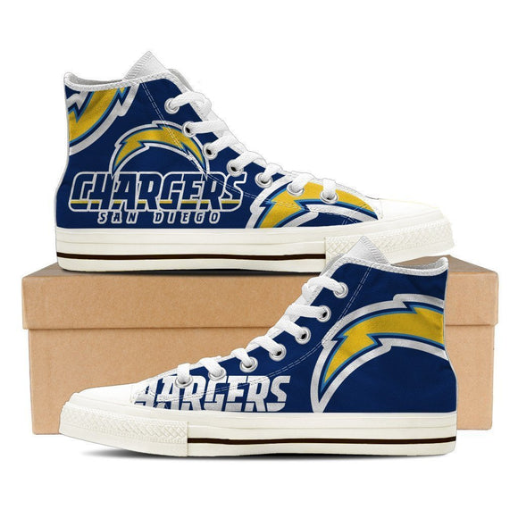 san diego chargers mens high top sneakers high top