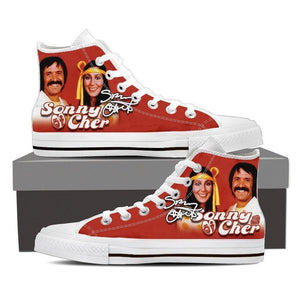 sonny and cher mens high top sneakers