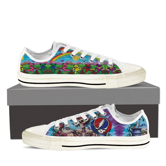 grateful dead mens low cut sneakers
