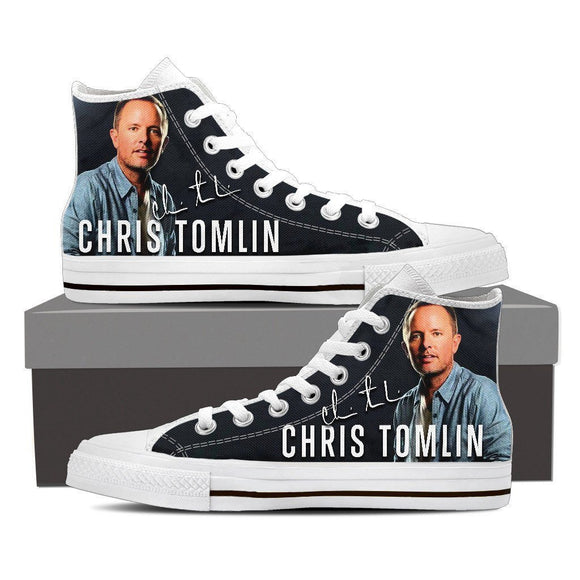 chris tomlin mens high top sneakers