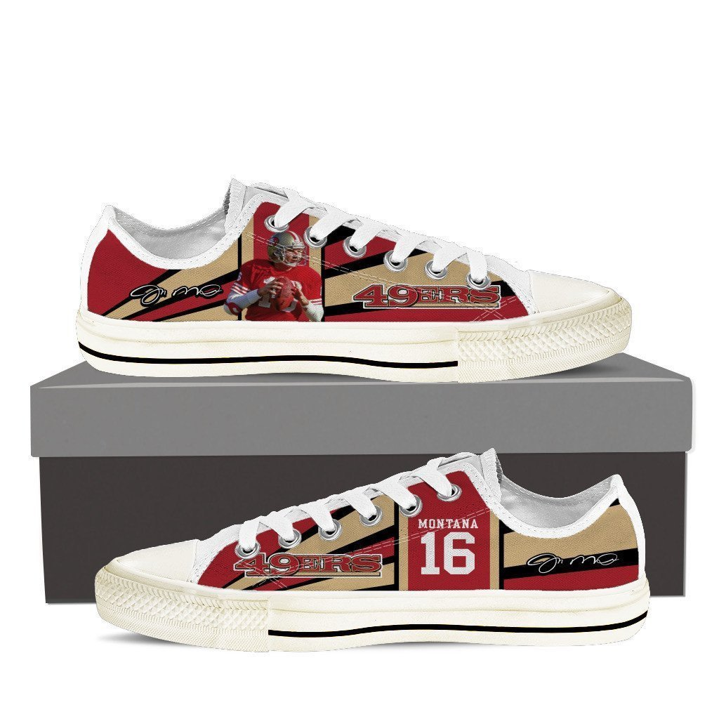 joe montana mens low cut sneakers