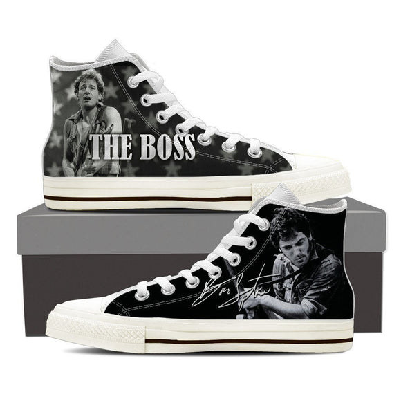 bruce springsteen ladies high top sneakers