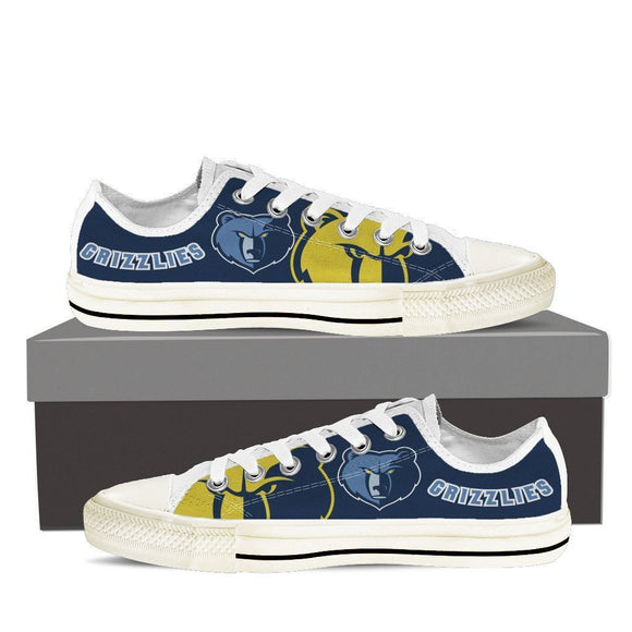 memphis grizzlies mens low cut sneakers cut