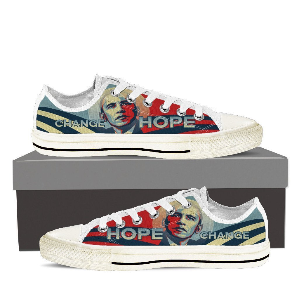 obama hope ladies low cut sneakers
