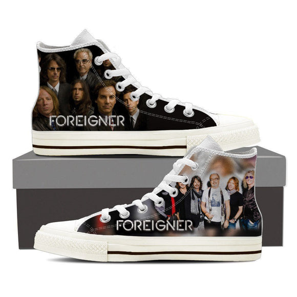 foreigner mens high top sneakers