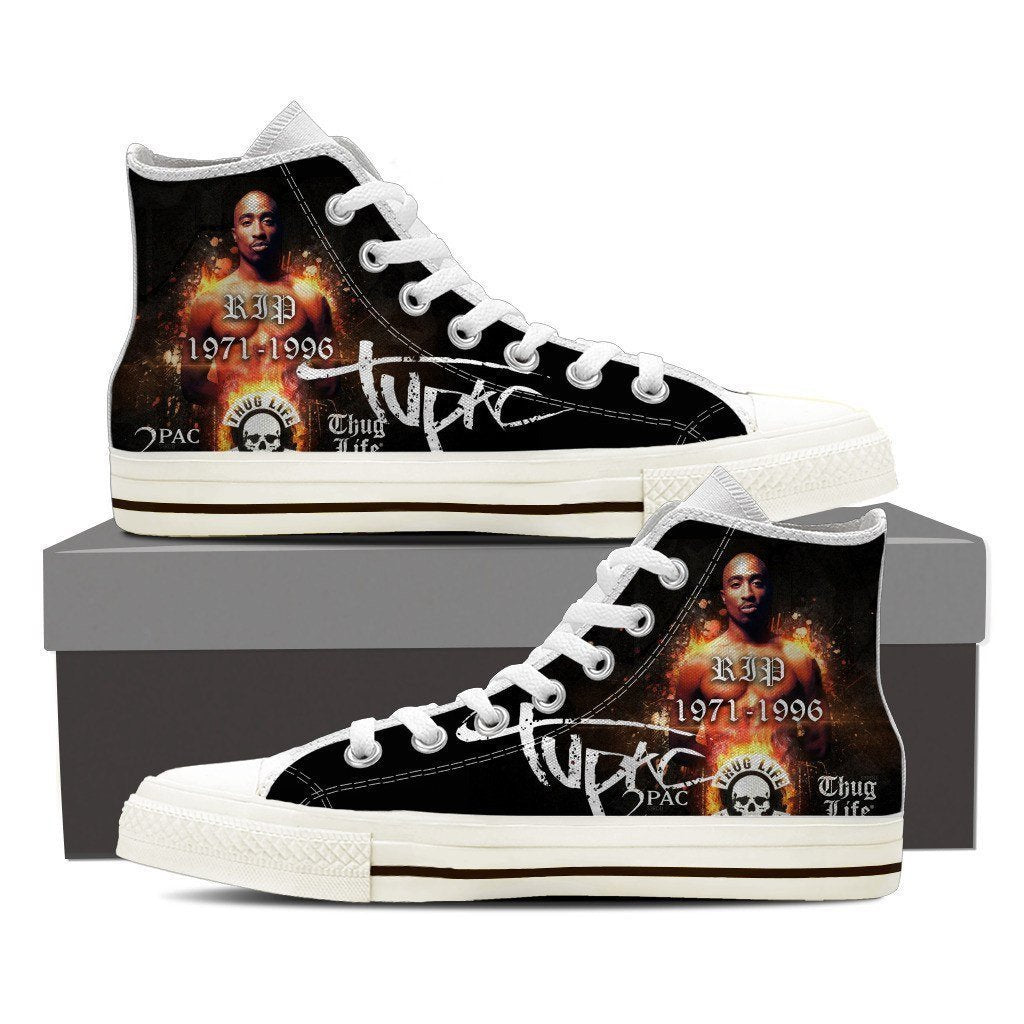 tupac shakur ladies high top sneakers