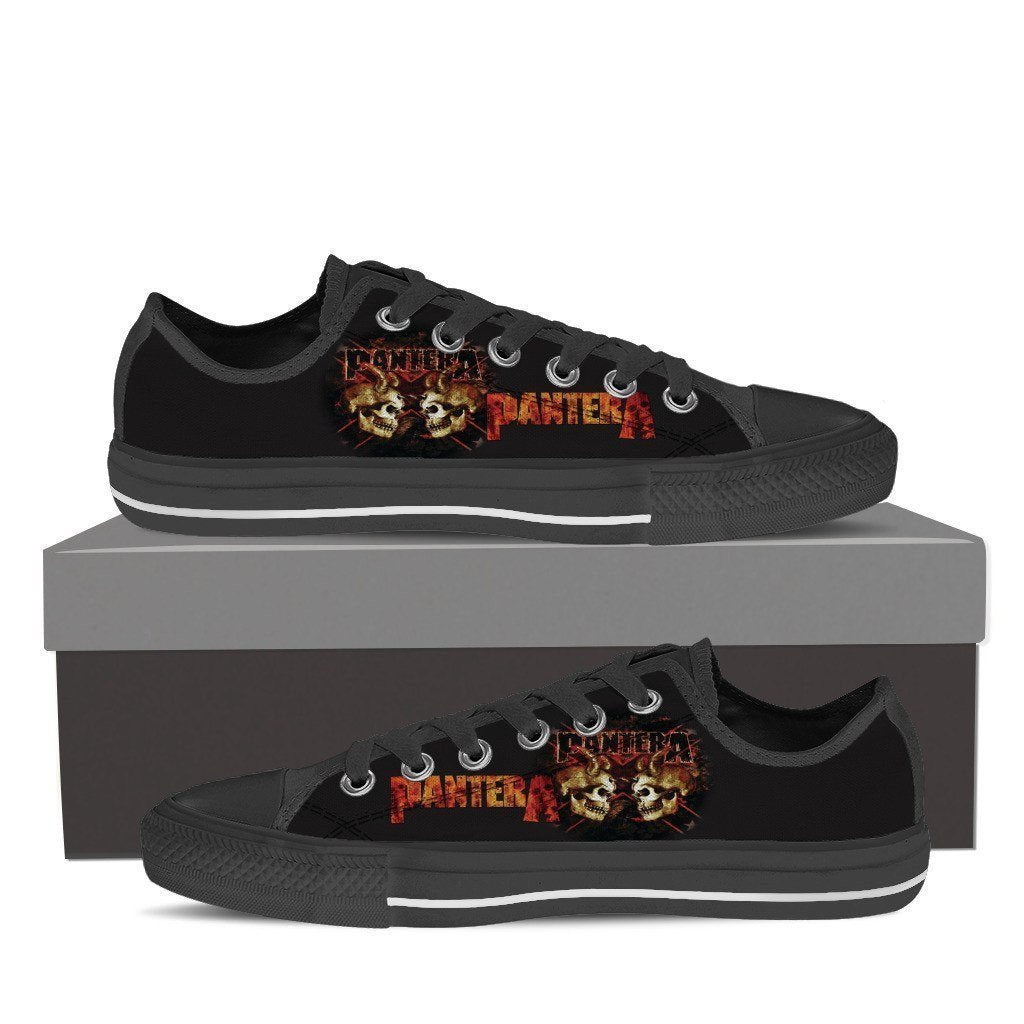 pantera band mens low cut sneakers