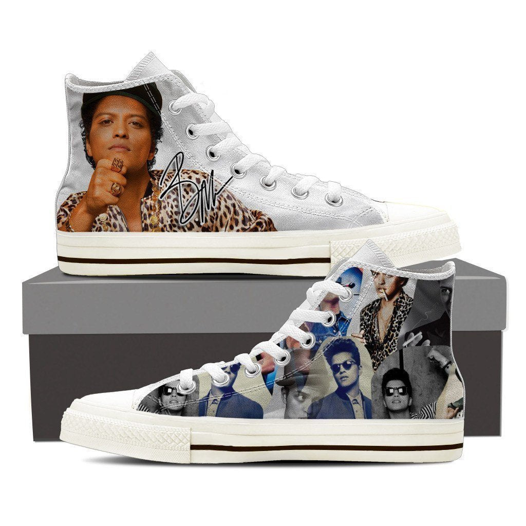bruno mars mens high top sneakers