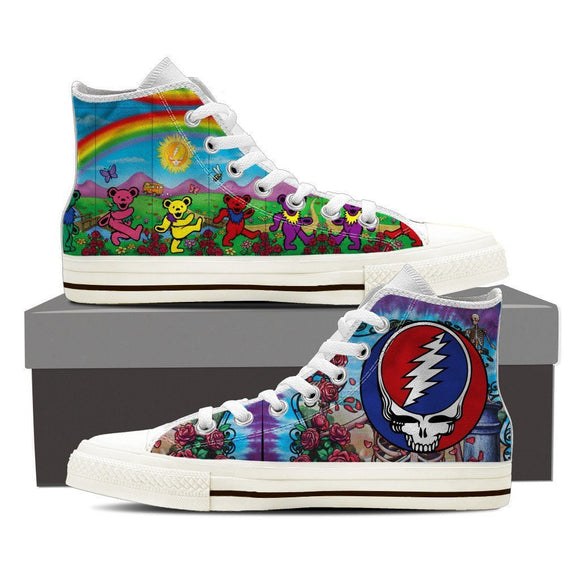 grateful dead mens high top sneakers