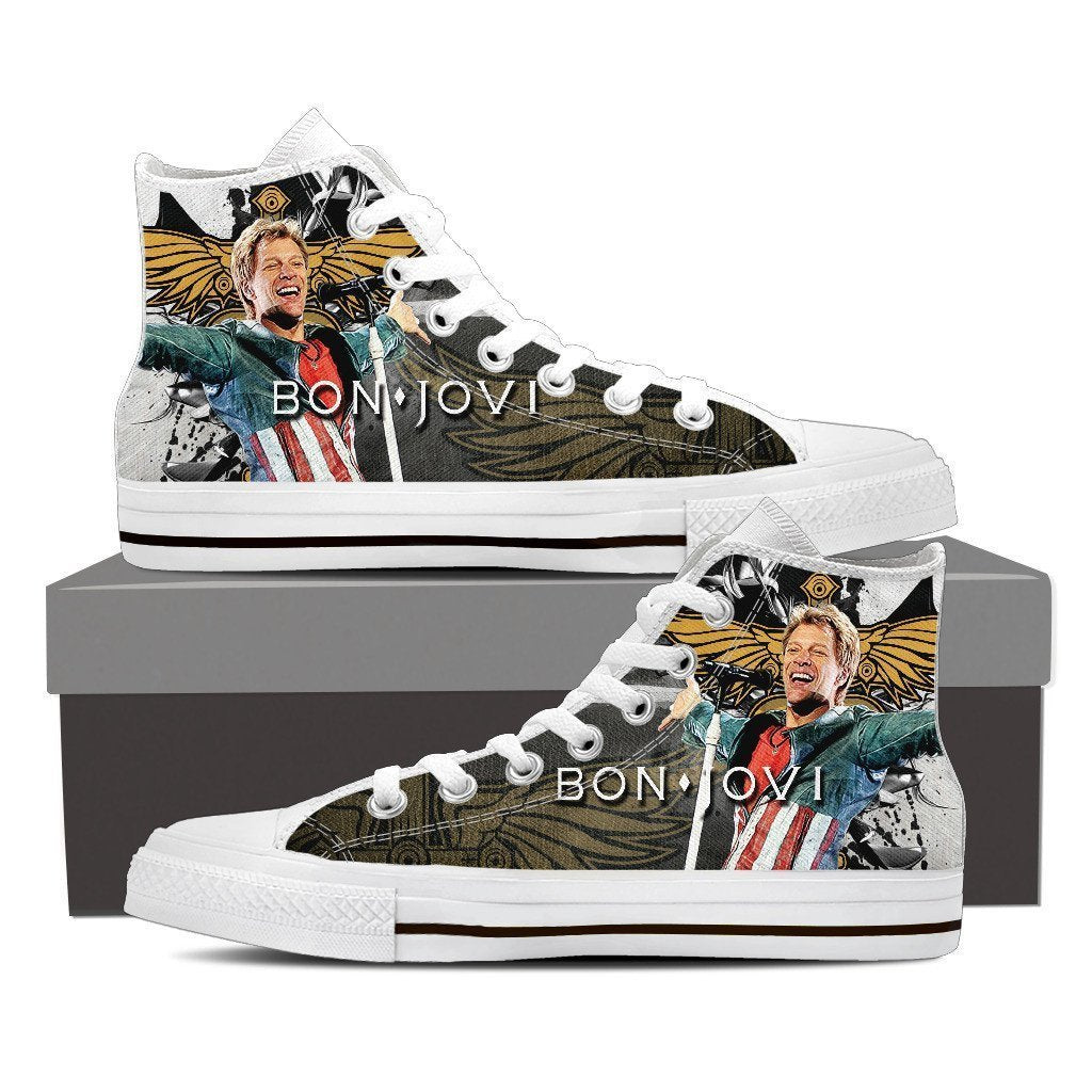 bon jovi new ladies high top sneakers