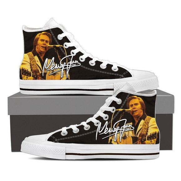 george jones mens high top sneakers