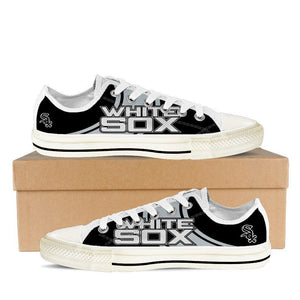 chicago white sox mens low cut sneakers cut
