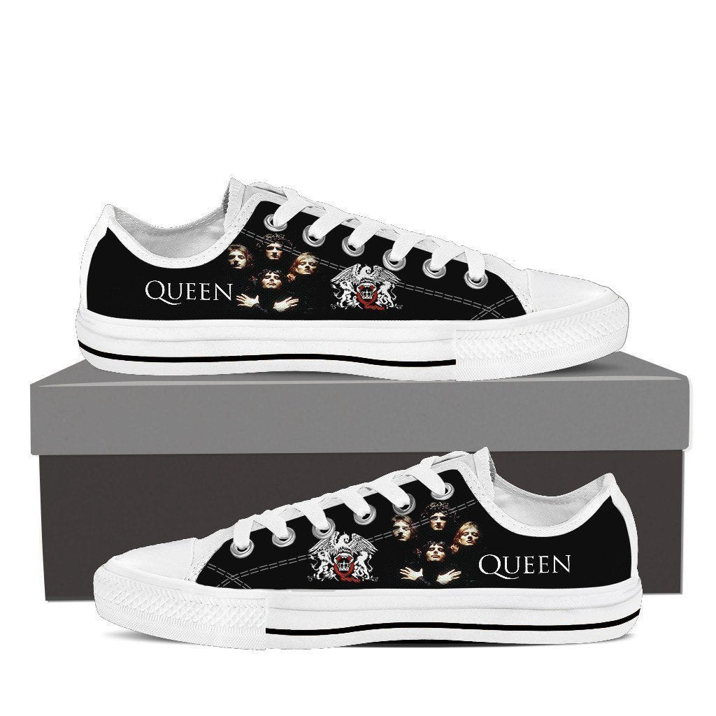 queen band new mens low cut sneakers