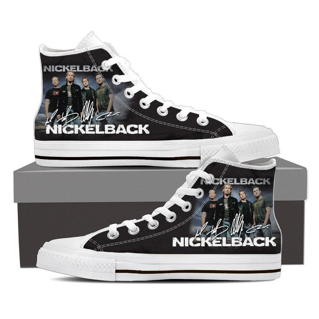 nickelback ladies high top sneakers