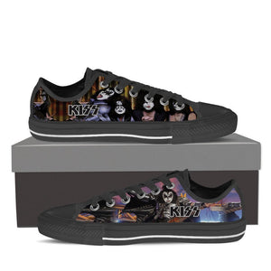 kiss band ladies low cut sneakers